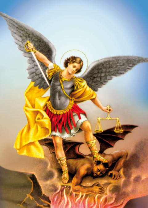 Octobre le mois du Rosaire - Un effort spécial dans la terrible lutte spirituelle contre les forces antichrétiennes 06-michael